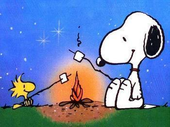 snoopy_camping