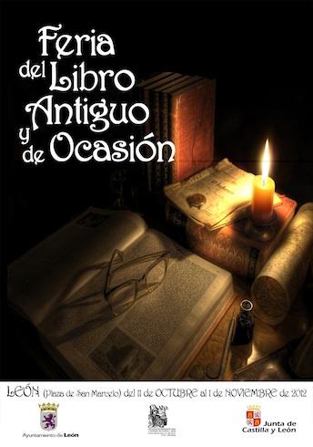 cartel_feria_libro_antiguo_ocasion_leon_2012